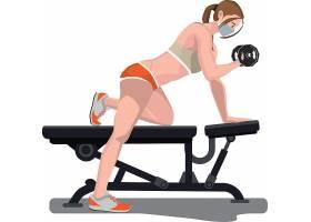 健身教練教他的運動員做正確的姿勢
