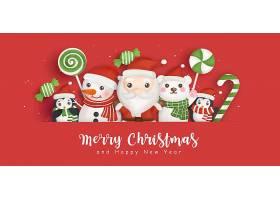圣诞快乐圣诞老人元素海报设计