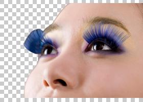 女性艺术蓝色睫毛