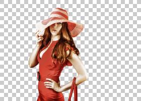 戴帽子的休闲女性