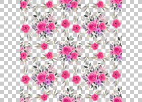 手绘水彩植物花卉插画无缝装饰背景