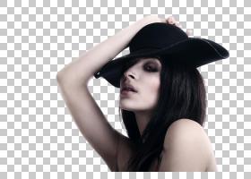 戴帽子的性感女性