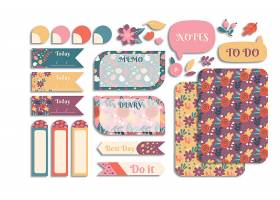 创意清新简洁时尚文艺花卉标签设计