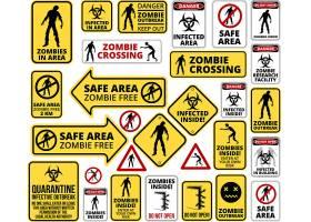 注意危险警示标识标记标签设计