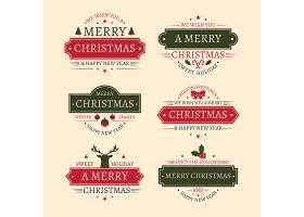简洁时尚大气圣诞节主题标签设计