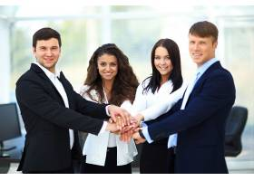 商务年轻团队展示