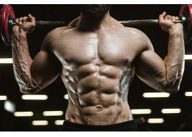 举重健身房肌肉教练肌肉展示