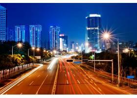 繁华城市道路夜景
