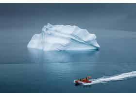 地球,冰山,小船,壁纸,
