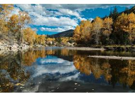地球,湖,湖,树,秋天,壁纸,