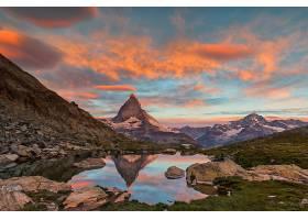 地球,反射,马特洪峰,山,天空,云,壁纸,