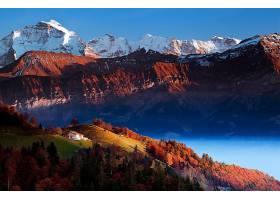 地球,山,山脉,秋天,壁纸,