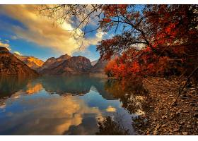 地球,风景,山,湖,秋天,树,天空,云,壁纸,