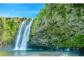 地球,瀑布,瀑布,岩石,绿色的,壁纸,(2)