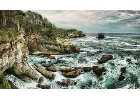 地球,海岸线,风景,直接热轧制,云,悬崖,海洋,岩石,地平线,壁纸,