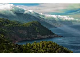 地球,海岸线,马略卡岛,西班牙,海岸,风景,森林,山,壁纸,