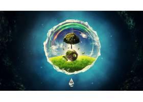 地球,自然,风景,CGI,数字的,艺术,壁纸,