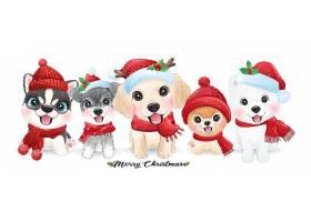 圣诞狗狗素材