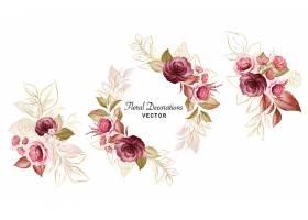 时尚花卉元素标签装饰图案素材