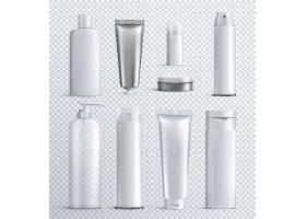化妆品护肤品产品素模外观瓶子矢量插画