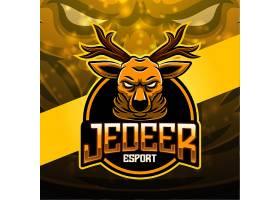 驯鹿主题游戏徽章图标LOGO设计
