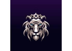 狮子王主题游戏徽章图标LOGO设计