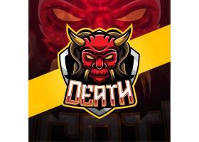 武士主题游戏徽章图标LOGO设计