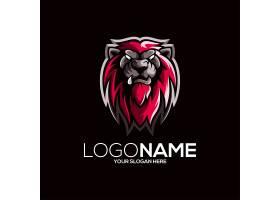 狮子主题游戏徽章图标LOGO设计