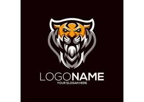 老虎豹子主题游戏徽章图标LOGO设计