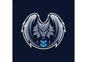 飞龙主题游戏徽章图标LOGO设计