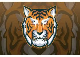 老虎主题游戏徽章图标LOGO设计