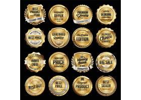 欧式华贵大气金色主题标签标贴设计