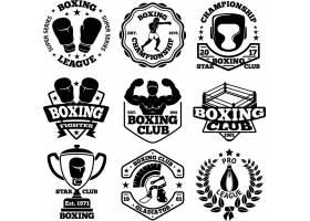 擂台拳击泰拳拳套主题标签标贴设计