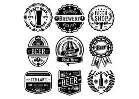 啤酒单色主题标签标贴设计