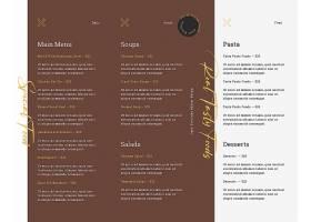 欧美菜单设计
