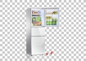打开的冰箱