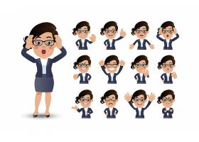 职业女性插画