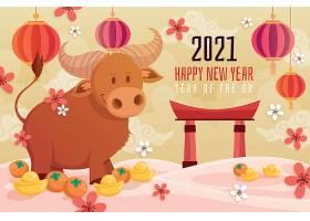 可爱牦牛新年素材