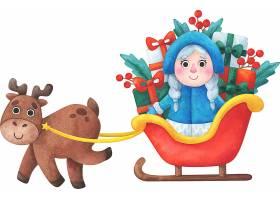 圣诞节送礼的白雪公主