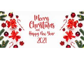 圣诞节快乐新年快乐2021banner横幅背景
