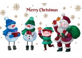 雪人与圣诞老人