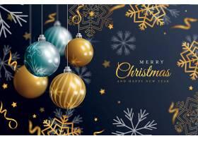 高档圆球灯圣诞节海报