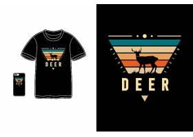 羚羊条纹彩虹色黑底T恤插画图案设计