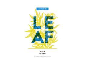 花卉图案背景主题海报设计