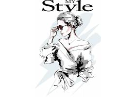 时尚潮流女人