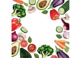 新鲜蔬菜果蔬插画设计