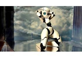 机器人,世俗的,CGI,数字的,艺术,壁纸,