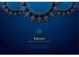 优雅的金色伊斯兰风格欧式花纹边框矢量装饰背景