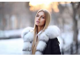 女人,模特,妇女,女孩,长的,头发,白皙的,蓝色,眼睛,冬天的,深度,