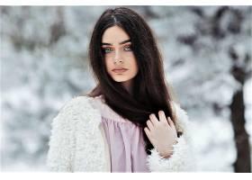 女人,模特,妇女,女孩,蓝色,眼睛,冬天的,雪,壁纸,